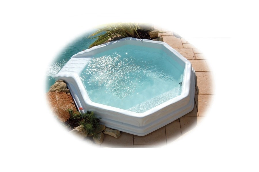 Kit mini piscine nymphea for Coque piscine polyester