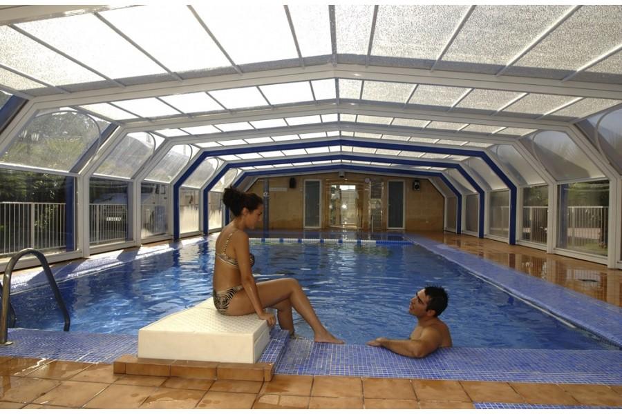 Abri de piscine télescopique haut sur-mesure Crystal