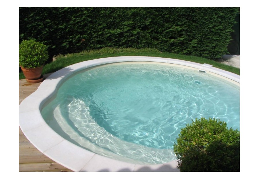 Kit mini piscine ronde guernesey for Piscine coque volet integre