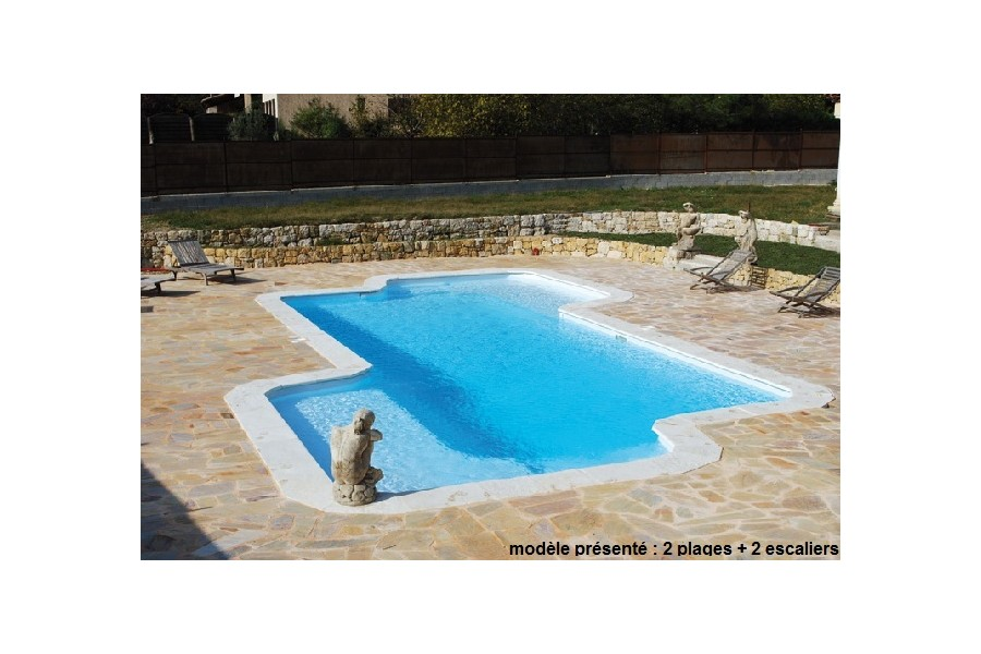 Kit piscine coque polyester santa cruz for Piscine kit polyester