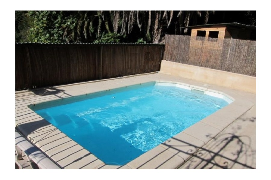 Mini piscine polyester ibiza for Mini piscine rectangulaire