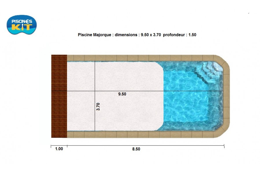 Kit piscine coque polyester majorque for Piscine coque kit complet