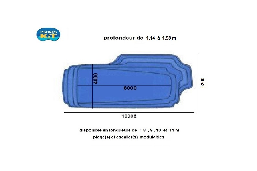 Kit piscine coque polyester ouessant for Kit piscine coque polyester