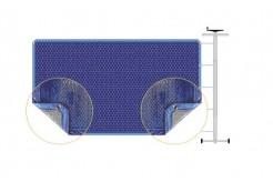 Couverture à bulles pour piscine Bimini