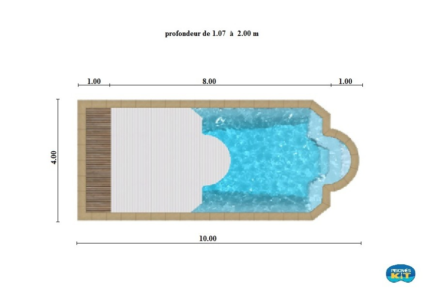 Piscine coque polyester port royal kit for Kit piscine coque polyester