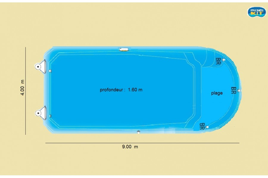 Piscine polyester mozambique kit piscine coque polyester for Piscine coque kit