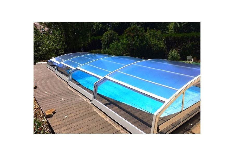 Jade abri de piscine t lescopique bas for Abri de piscine sokool