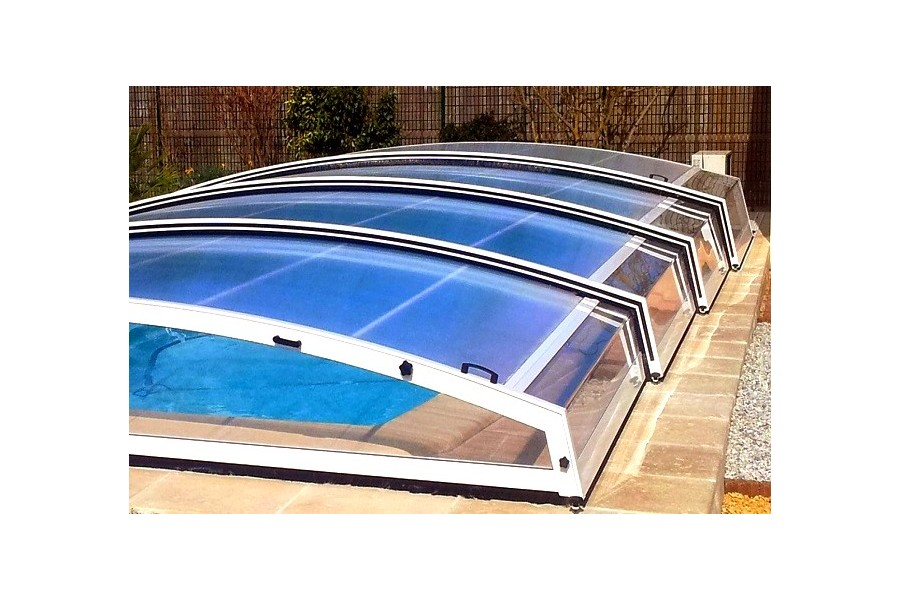 Jade abri de piscine t lescopique bas for Abri de piscine bas
