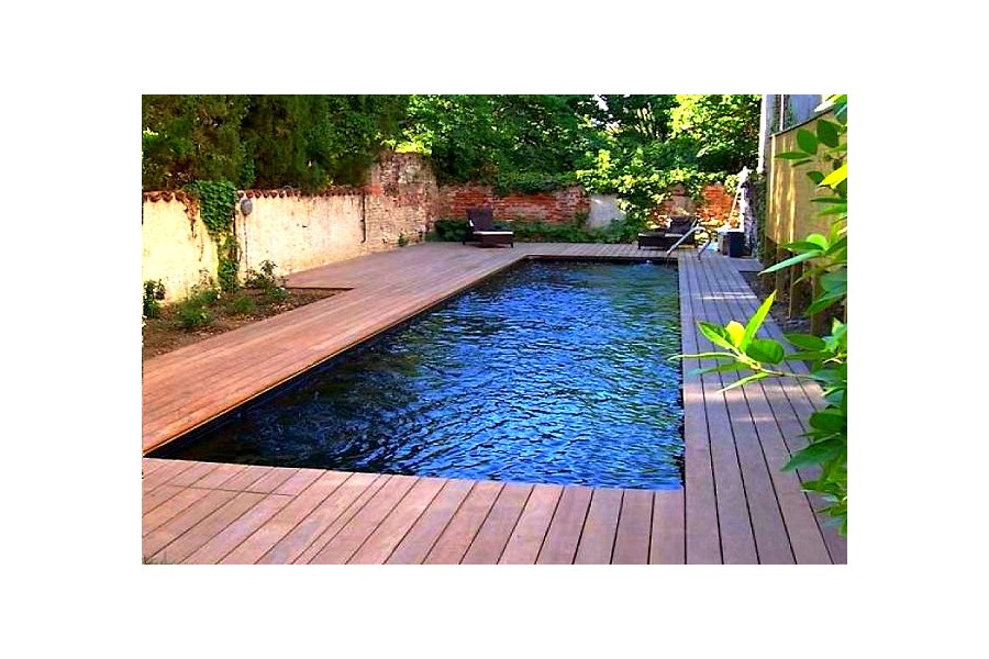 Piscine couloir de nage polyester cuba 13 for Piscine 25m