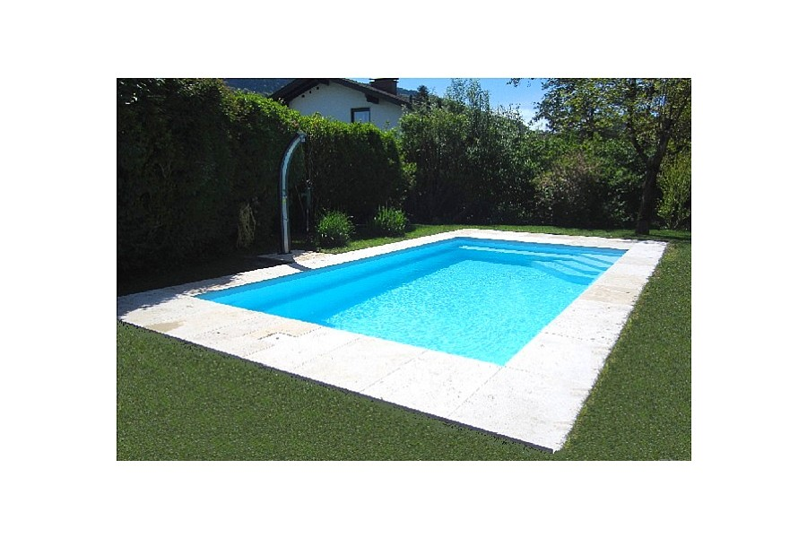 Kit piscine cap vert coque polyester rectangulaire for Kit piscine coque polyester