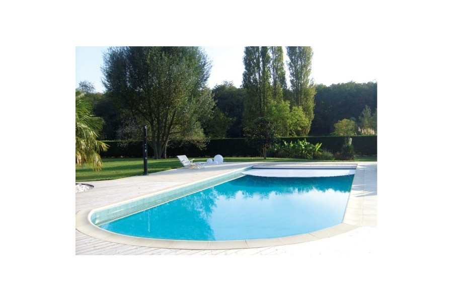Volet de s curit immerg pour piscine cap vert for Volet roulant immerge piscine miroir