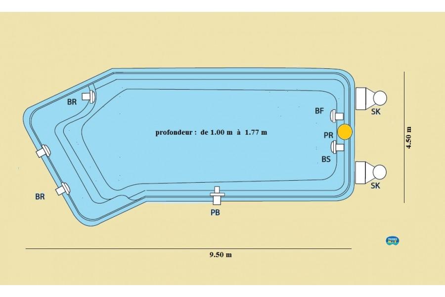 Piscine polyester bimini for Accessoire piscine 86
