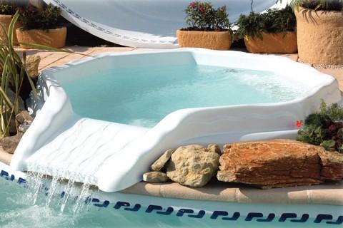 Mini-piscine Nymphéa coque polyester