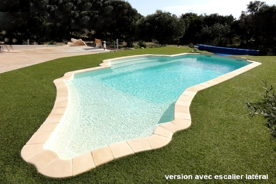 Kit piscine coque polyester antiparos for Prix piscine 10x5