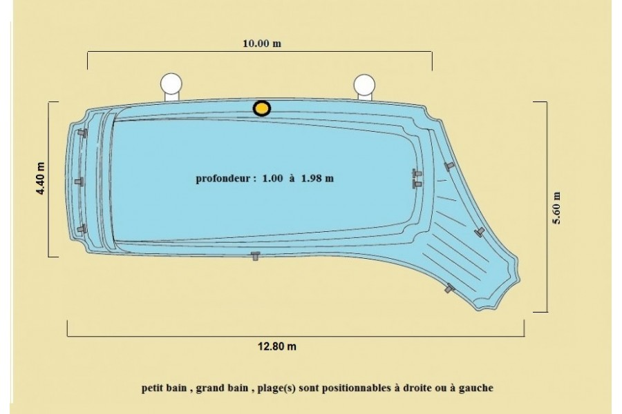 Piscine sur mesure coque for Dimension piscine coque