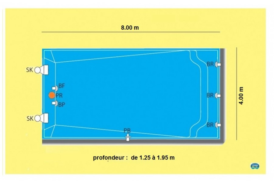 Prix coque piscine 8x4 interesting cliquez with prix for Tarif piscine enterree posee