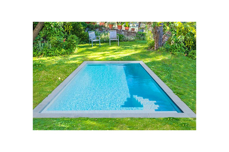 Kit mini piscine rectangulaire saint louis fond plat for Mini piscine rectangulaire