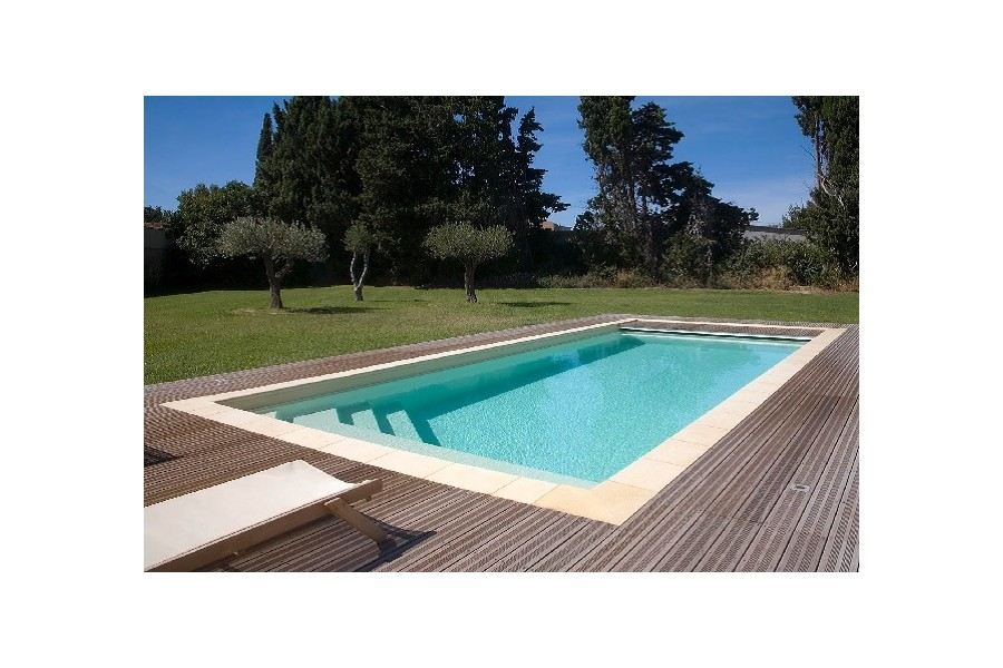 Kit piscine baltique coque polyester rectangulaire for Kit piscine coque polyester