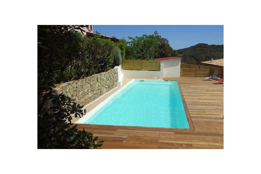 Kit piscine rectangulaire coque polyester tahiti for Kit piscine coque polyester