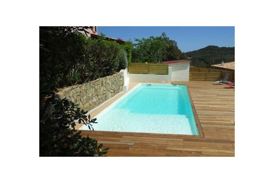 piscine paques kit piscine coque polyester avec plage et escalier immerg. Black Bedroom Furniture Sets. Home Design Ideas