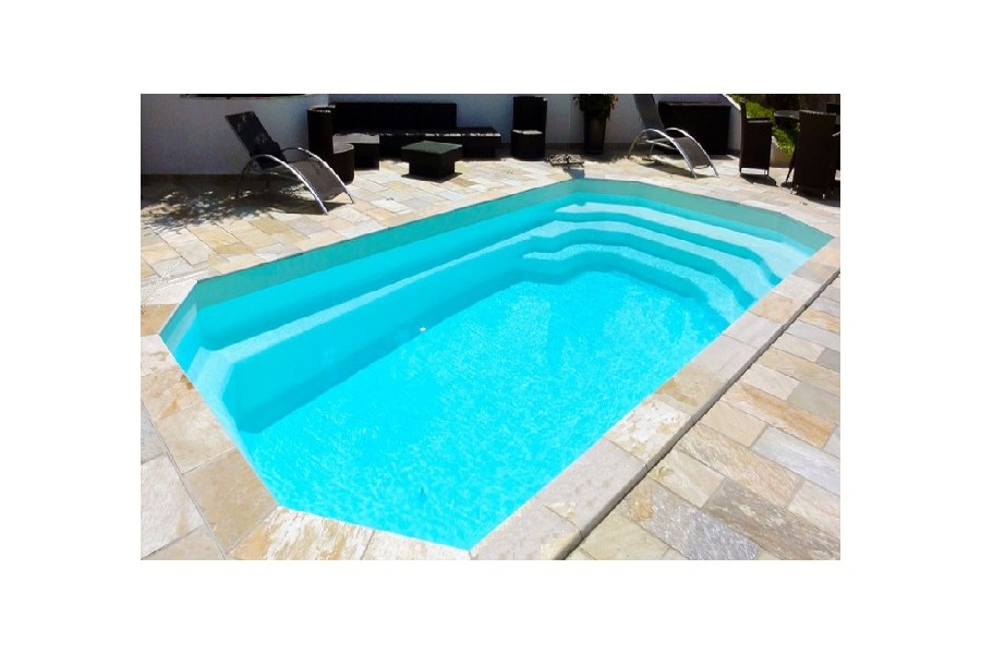 Piscine polyester sicile kit piscine coque polyester for Kit piscine coque polyester