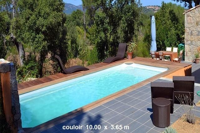 piscine couloir de nage polyester cuba 12. Black Bedroom Furniture Sets. Home Design Ideas