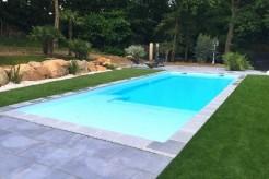 Paques piscine avec plage 2.50 m + escalier