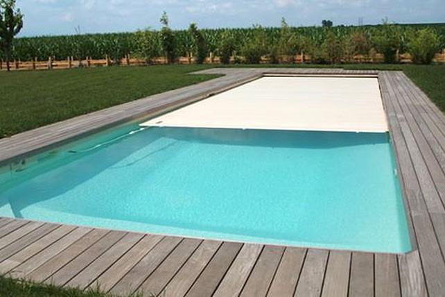 coque piscine avec volet integre