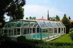Crystal Abri de piscine haut télescopique