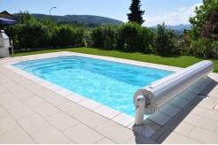 Volet de sécurité hors-sol piscine Cap Vert + plage