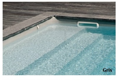 piscine kit polyester grise