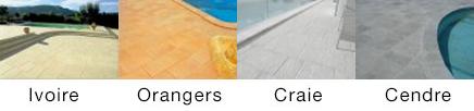 Couleurs des margelles de piscines