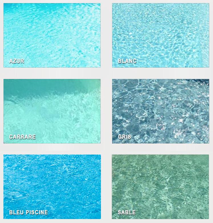 Nuancier de couleurs de piscines