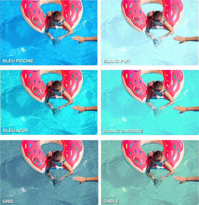 Nuancier des piscines